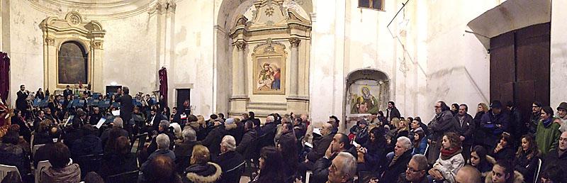 gmc 05 - B.V.M. Assunta in Cielo e San Nicolò - Ponticelli in Scandriglia (RI) 4-01-2013 direttore F. Ginevoli Sabina Wind Orchestra