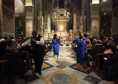 "gmc 24 - Sant'Agostino in Campo Marzio - Roma 20-12-2009 Gruppo Gospel ""The Anointed Voices of Praise"""