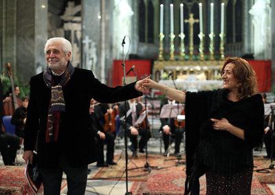 gmc 60 - Santa Maria sopra Minerva - Roma 6-01-2010 attore Ugo Pagliai soprano Nunzia Santodirocco