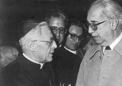 pre 03 - 2ª edizione 1976 - S.E.R. Ugo Cardinale Poletti con il Dott. Manlio Menaglia, ideatore della mostra