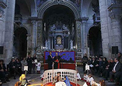 """pre 35 - Il Presepe vivente durante l'inaugurazione dell'anno 2010 – tema """"Roma"""""""