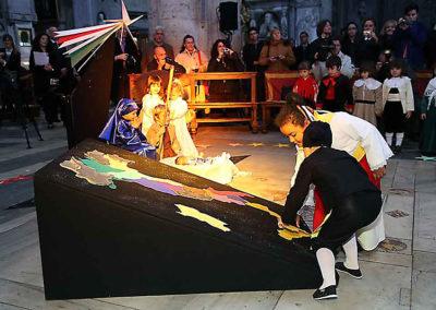 """pre 36 - Il Presepe vivente durante l'inaugurazione dell'anno 2011- tema """"Italia Unita"""""""